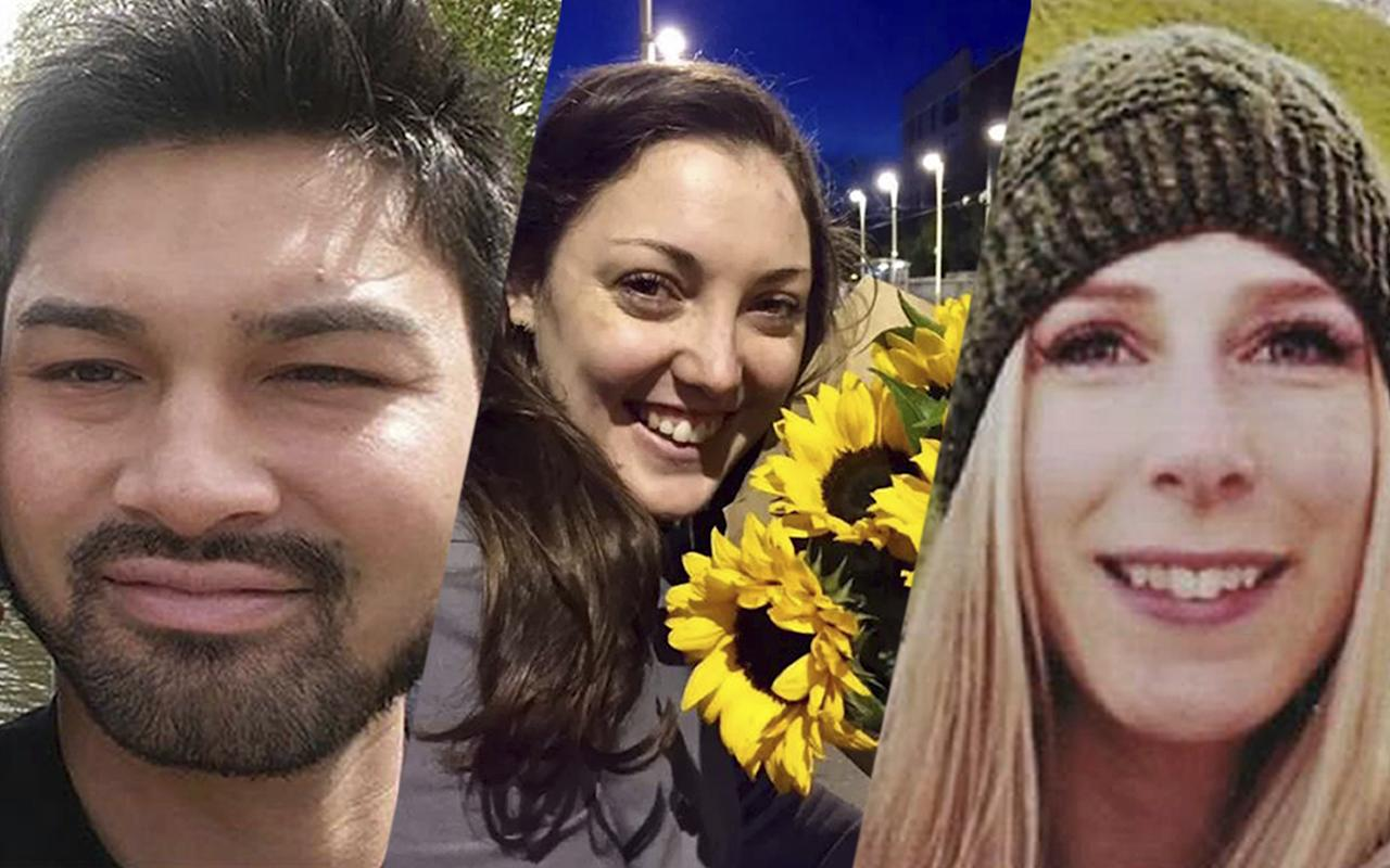<p>Three of the named victims killed in Saturday's London Bridge attack (from left): James McMullan, Kirsty Boden and Christine Archibald. (Photos: PA via AP, Metropolitan Police via AP, Archibald family via Reuters) </p>