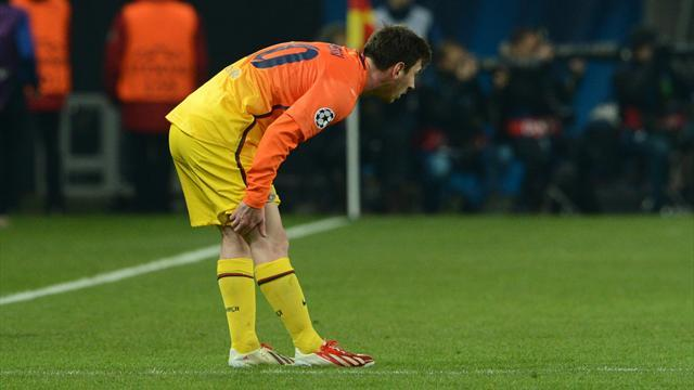 Ligue des champions - Messi : 45 minutes, un but, une blessure