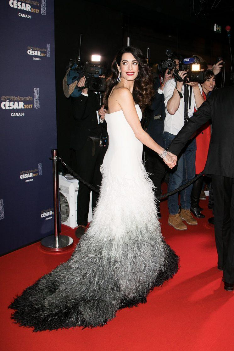 <i>Her white Atelier Versace gown was truly showstopping [Photo: Getty]</i>