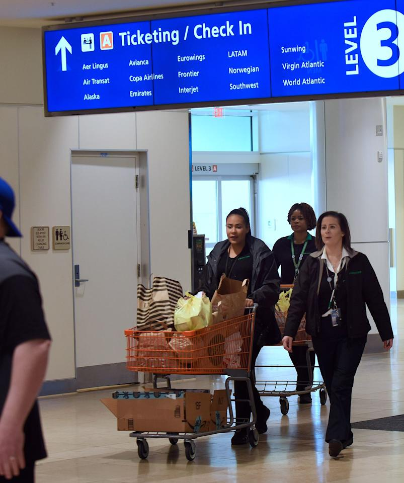 """<p>Airline representatives at Orlando International Airport knew that federal employees were working without pay during January's partial government shutdown, so they <a rel=""""nofollow"""" href=""""https://www.wftv.com/news/local/orlando-air-traffic-controllers-cope-with-shutdown-collect-food-donations/905266253"""">organized a food and supplies drive</a> to help TSA, Customs, and Federal Aviation Administration workers until their paychecks resumed.  </p>"""