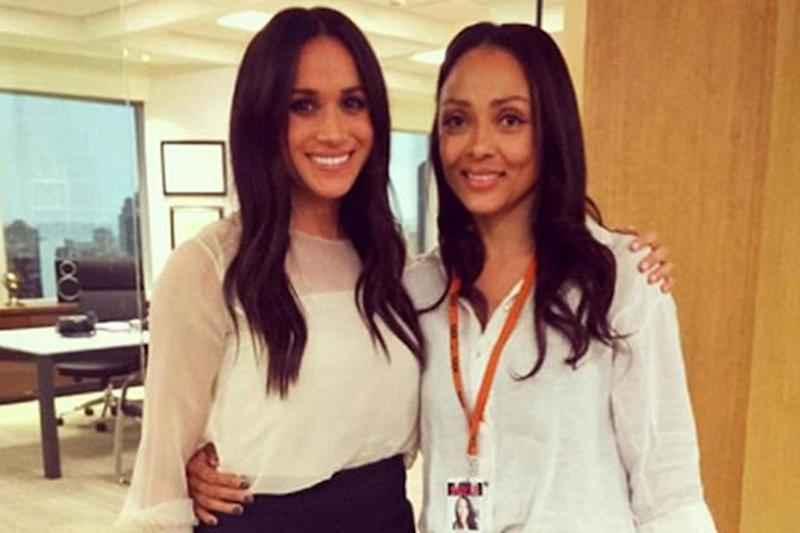 Suits actress Meghan Markle with her body double Nicky Bursic (Nicky Bursic/ Instagram)