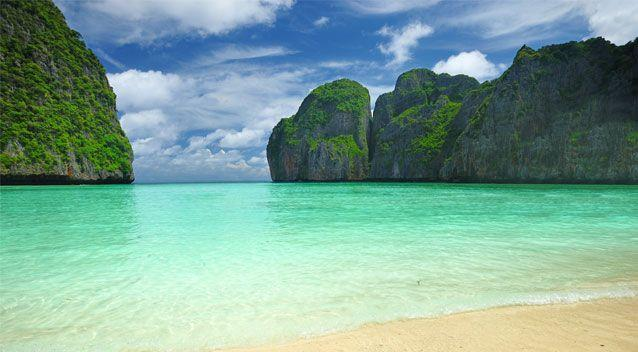 Many heading to Maya Bay envisage the beach looking something like this. Source: Getty