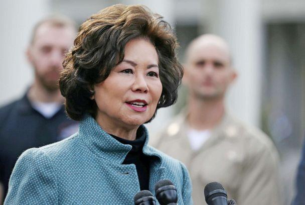 PHOTO: U.S. Department of Transportation Secretary Elaine Chao speaks to the news media outside of the West Wing of the White House in Washington, March 4, 2019. (Leah Millis/Reuters, FILE)