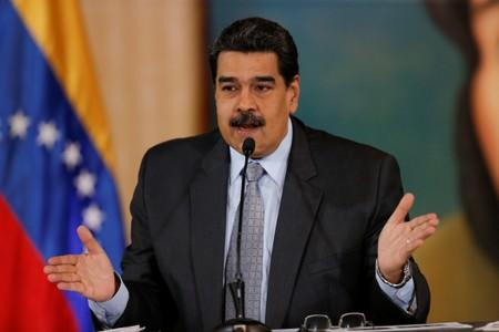 FILE PHOTO: Venezuela's President Nicolas Maduro holds a news conference in Caracas