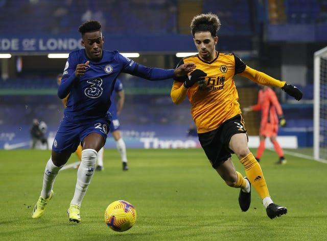 Callum Hudson-Odoi (left) was asked by his new manager to play as a wing-back