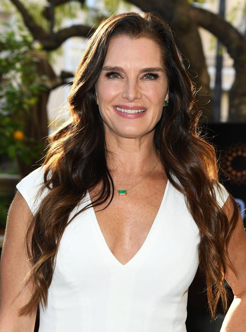 """<p>In 2019, after posting a bikini photo on Instagram and getting a lot of attention for it, Brooke explained how her daughters helped her feel more confident in herself. She told <a href=""""https://www.yahoo.com/entertainment/brooke-shields-says-daughters-are-behind-her-sexy-swimsuit-photos-223754758.html"""" data-ylk=""""slk:Yahoo Entertainment;outcm:mb_qualified_link;_E:mb_qualified_link;ct:story;"""" class=""""link rapid-noclick-resp yahoo-link""""><em>Yahoo Entertainment</em></a>, """"My daughters are always like, 'Mom, you work so hard. Why don't you ever post?' I'm like, 'It's weird.' If I'm in an ad, I can do that. I feel like it's a job, then I can do it, but to just post pictures of myself. … My two daughters are like, 'Mom, it's good for you to be seen like this. You look good in your bathing suit,' and they've given me such confidence to sort of be a little bit more of an exhibitionist."""" </p>"""
