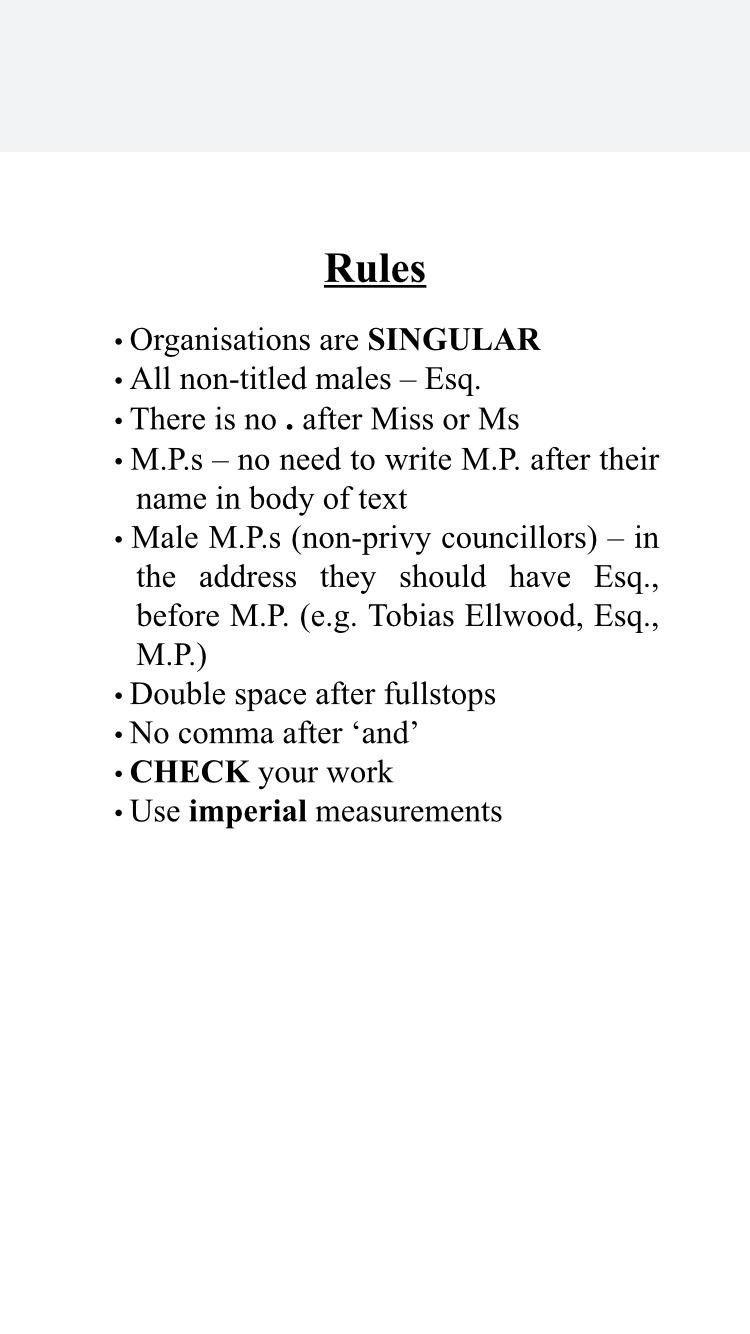 The rules issued to staff in Jacob Rees-Mogg's office include calling all non-titled men 'Esq' (Picture: ITV News/PA Wire)