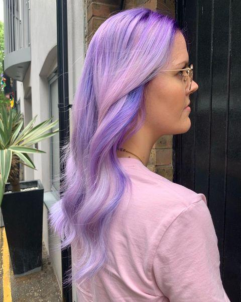 """<p>You don't have to opt for an allover dye if you're going for a bright hair colour. We love the dimension these multi-tonal highlights give.</p><p><a href=""""https://www.instagram.com/p/ByI2I5zhS43/"""" rel=""""nofollow noopener"""" target=""""_blank"""" data-ylk=""""slk:See the original post on Instagram"""" class=""""link rapid-noclick-resp"""">See the original post on Instagram</a></p>"""