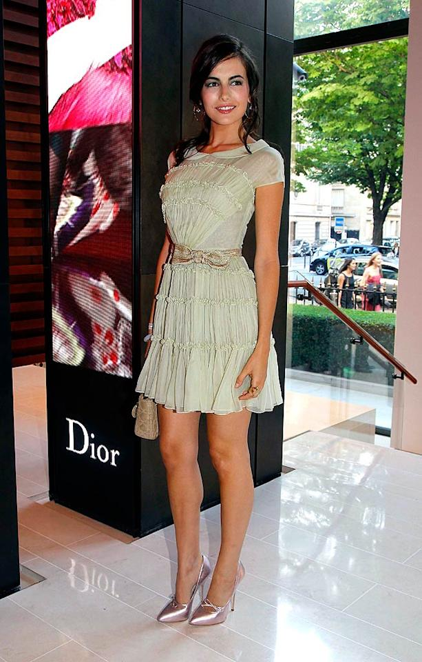 "More famous for her fashion sense than her film roles, starlet Camilla Belle was stunning as usual at the Rouge Dior Lipstick Launch Party in Paris, where she dressed to impress in a Christian Dior Resort 2011 chiffon frock and pink Dior heels. Eric Ryan/<a href=""http://www.gettyimages.com/"" target=""new"">GettyImages.com</a> - June 24, 2010"