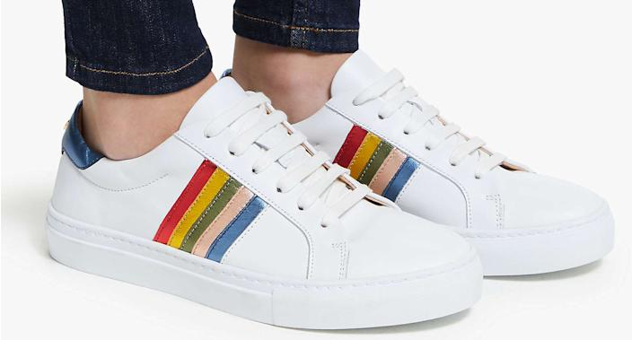John Lewis has launched Rainbow NHS Leather Trainers to support NHS Charities Together amid the coronavirus pandemic. (John Lewis & Partners)