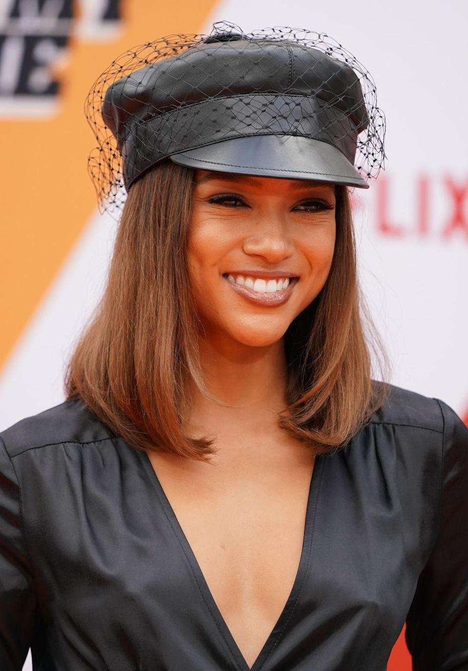 "<p>Back when life was normal, Karrueche attended the LA premiere of Netflix's ""Dolemite Is My Name"" and wowed us with her shoulder-length caramel crop. The honey-colored tresses have her GLOWING. </p>"