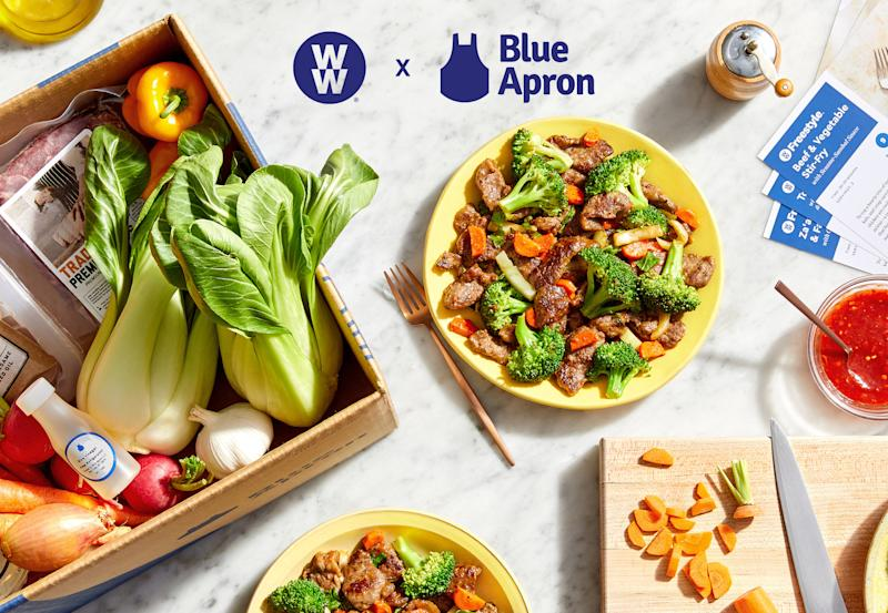 Blue Apron and WW meal kit