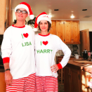 """<p>In case you didn't know, Harry Hamlin and Lisa Rinna heart each other! """"Merry Christmas to you and your families!"""" wrote <i>The Real Housewives of Beverly Hills</i> star. """"We feel so blessed and grateful! Love to you all!"""" (Photo: <a rel=""""nofollow noopener"""" href=""""https://www.instagram.com/p/BOcqhmSgPsM/"""" target=""""_blank"""" data-ylk=""""slk:Instagram"""" class=""""link rapid-noclick-resp"""">Instagram</a> </p>"""