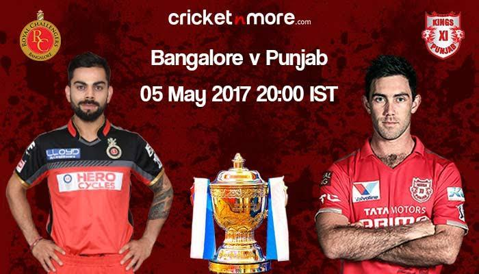 IPL: Down-and-out RCB face confident Kings XI Punjab