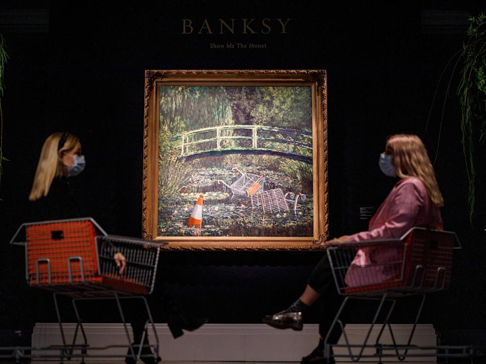 'Show Me the Monet' on display at Sotheby's, LondonGetty Images/Tolga Akmen