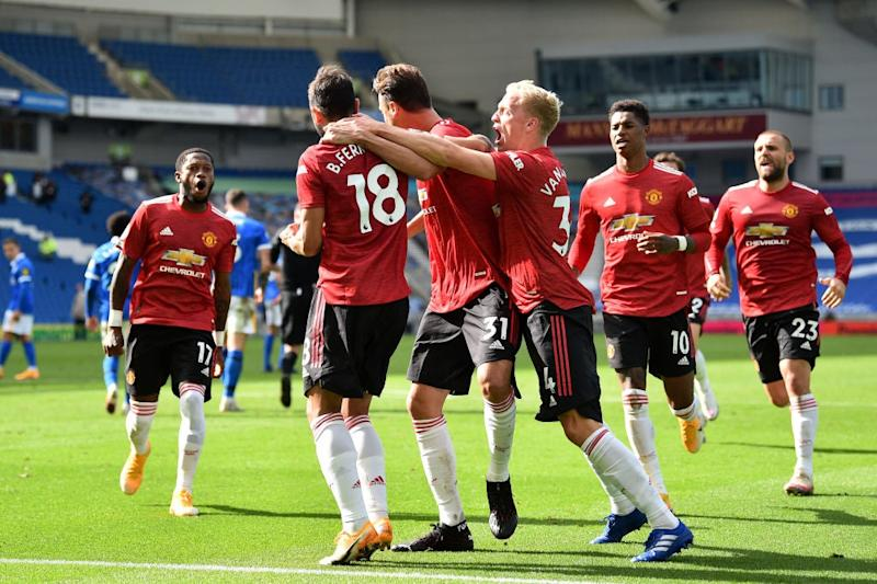 Man United won the game late on at Brighton (Getty Images)