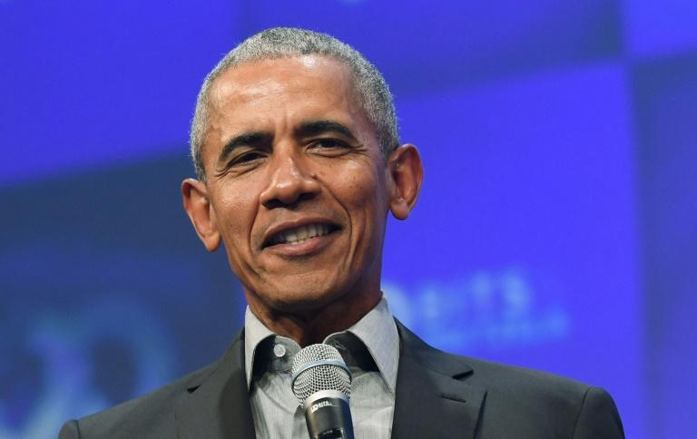Barack Obama, pictured in September 2019, spoke of the urgency of not just bringing together a strong campaign, but advocating for broader systemic change during a period of heightened tensions over racial injustice and police brutality (AFP Photo/Christof STACHE)