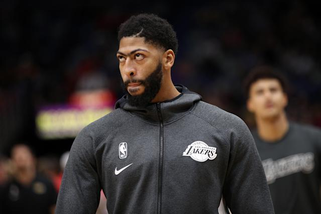 "<a class=""link rapid-noclick-resp"" href=""/nba/players/5007/"" data-ylk=""slk:Anthony Davis"">Anthony Davis</a> had a messy exit from New Orleans. (Photo by Chris Graythen/Getty Images)"