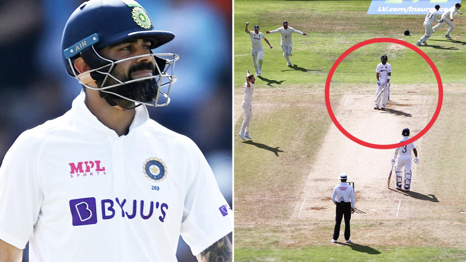 Virat Kohli, pictured here in action during the third Test between India and England.