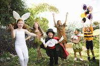 """<p>According to <a href=""""https://www.verywellfamily.com/the-importance-of-dress-up-play-2765056"""" rel=""""nofollow noopener"""" target=""""_blank"""" data-ylk=""""slk:experts"""" class=""""link rapid-noclick-resp"""">experts</a>, playing dress up encourages creativity and confidence in children. So don't toss those wrinkled store-bought costumes lurking in your basement. Give 'em to your kids and set free their imaginations.</p>"""