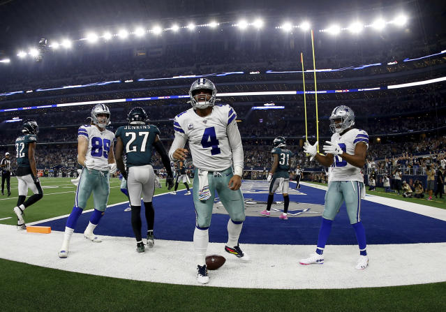 Dak Prescott made the most of his team visit during the draft process in 2016. (AP Photo/Ron Jenkins)