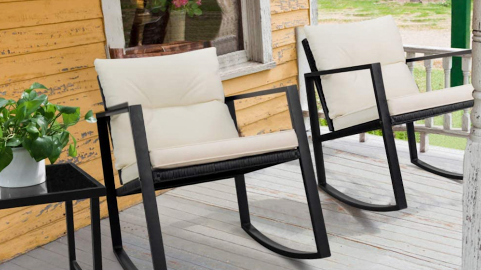 The neutrals can blend into any color scheme and find themselves at home among your existing patio pieces.