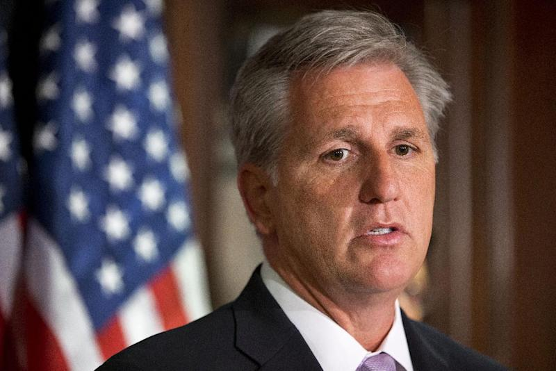 FILE - In this April 16, 2013 file photo, House Majority Whip Kevin McCarthy of Calif. speaks during news conference on Capitol Hill in Washington. During Congress' last attempt to remake the immigration system, in 2007, a public backlash helped kill the bill as angry calls overwhelmed the Senate switchboard. This summer other issues, notably President Barack Obama's health care law, seem to be topping the list of voters' concerns. Constituents opposed to citizenship for immigrants in this country illegally are loudly voicing their views at Republican House members' town hall meetings this month. But advocates of immigration legislation with a path to citizenship are having some success getting their supporters to show up, too, even in heavily Republican districts. (AP Photo/Jacquelyn Martin, File)