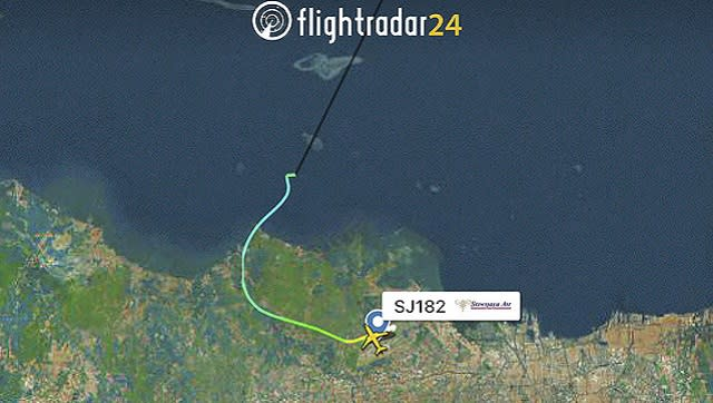 Flight tracking data showed that the flight lost altitude soon after take off. AP