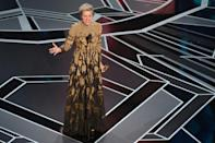 """Frances McDormand won her second best actress Oscar for """"Three Billboards outside Ebbing, Missouri"""" in 2018"""