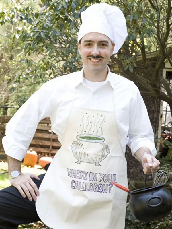 """<p>With a cotton apron, fabric pens, and a chef's hat, you can whip up a chef's costume that's *chef's kiss.* </p><p><strong><em><a href=""""https://www.womansday.com/home/crafts-projects/how-to/a2957/chef-19016/"""" rel=""""nofollow noopener"""" target=""""_blank"""" data-ylk=""""slk:Get the Chef tutorial"""" class=""""link rapid-noclick-resp"""">Get the Chef tutorial</a>. </em></strong> </p>"""