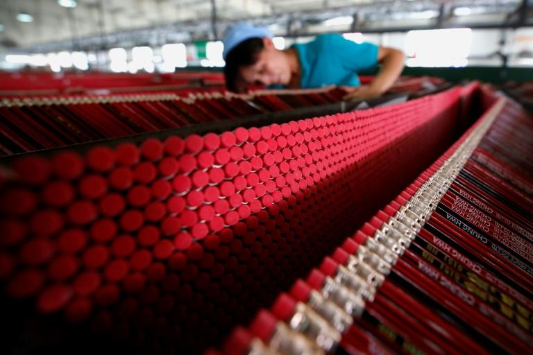 Output at China's factories is being hit by the trade war with the US and a slowing global economy