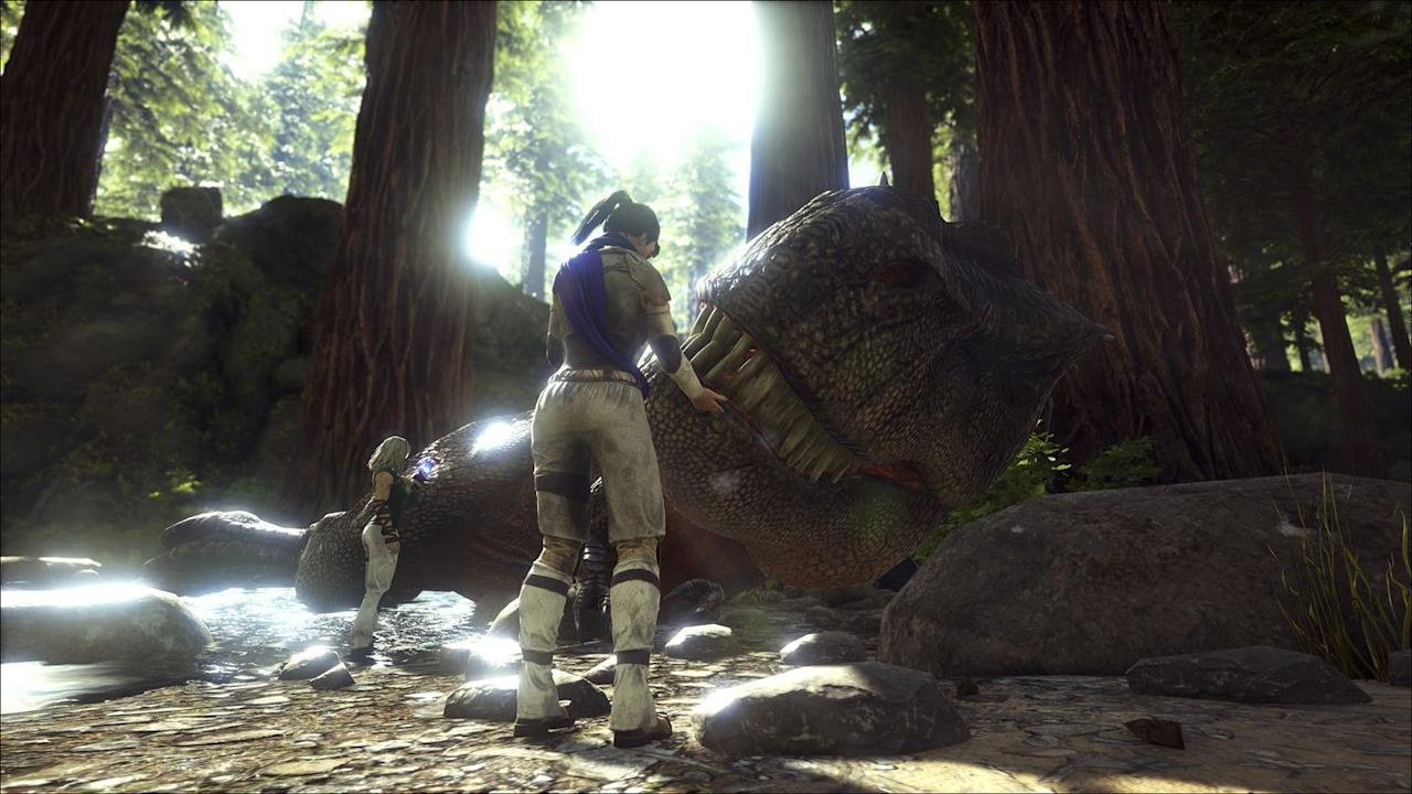 """<p><a class=""""body-btn-link"""" href=""""https://store.steampowered.com/app/346110/ARK_Survival_Evolved/"""" target=""""_blank"""">Play Now</a></p><p>It might be cool to see dinosaurs in person, unless you're stranded on an island filled with them. <em>Ark: Survival Evolved</em> finds you working to make a shelter and find weapons to defend yourself with in a world rife with prehistoric animals. Not only do you have to keep yourself from being eaten, but you've got to keep other players from harming you, too. Good luck out there.</p>"""