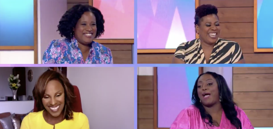Charlene White, Brenda Edwards, Judi Love and Kelle Bryan made up the Loose Women panel. (ITV)