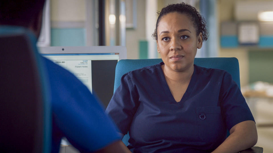 Programme Name: Holby City - TX: 02/03/2021 - Episode: Holby City S22 - Ep40 (No. n/a) - Picture Shows:  Nicky McKendrick (BELINDA OWUSU) - (C) BBC - Photographer: Screengrab