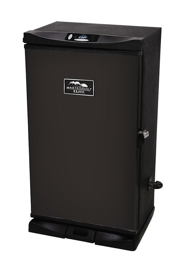 "<p>Serving up delicious meats, fish, and even vegetables with this durable, compact smoker is almost too easy. Just keep an eye on the digital thermometer till it reaches the prescribed temperature. So instead of standing over a grill getting smoke in his eyes and overcooking the steaks again, Dad can enjoy some <a href=""http://www.fieldandstreamshop.com/p/kan-jam-4-player-disc-game-16kjauknjmxxxxxxxstg/16kjauknjmxxxxxxxstg"" rel=""nofollow noopener"" target=""_blank"" data-ylk=""slk:backyard games"" class=""link rapid-noclick-resp"">backyard games</a>, relax in his <a href=""http://www.fieldandstreamshop.com/ProductDisplay?pageName=CatalogEntryPage&storeId=11201&errorViewName=ProductDisplayErrorView&urlLangId=-1&productId=2392194&urlRequestType=Base&langId=-1&catalogId=11101&camp=20170607:FNSOrderConfirmationLink:BODY-PF_ID"" rel=""nofollow noopener"" target=""_blank"" data-ylk=""slk:comfy chair"" class=""link rapid-noclick-resp"">comfy chair</a> with a beer, or read a good book… <a href=""http://www.fieldandstreamshop.com/p/masterbuilt-30-black-digital-smoker-15msbu30blcklctrccfp/15msbu30blcklctrccfp"" rel=""nofollow noopener"" target=""_blank"" data-ylk=""slk:$199"" class=""link rapid-noclick-resp"">$199</a> (Courtesy Field & Stream) </p>"