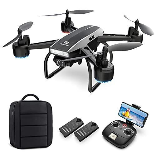 DEERC 2K Camera Drone for Adults with Live Video Streaming