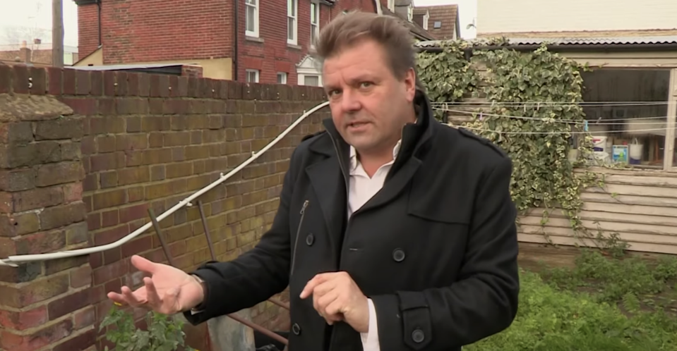 Martin Roberts had to rush to the hospital after a reaction to a poisonous plant (BBC)