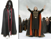<p>Actor Michael Sheen's Volturi cloak from 'Breaking Dawn – Part 2' would make an excellent bathrobe. (Photo: Prop Store/Summit) </p>