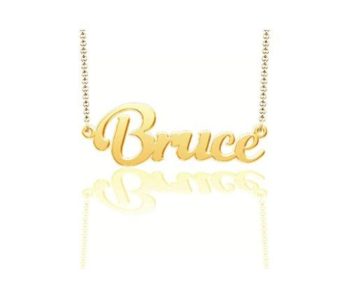 Bruce Gold-Plated Nameplate. (Photo: Amazon)