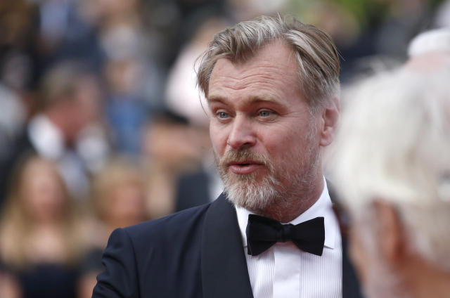 """71st Cannes Film Festival - Screening of the new print of the film """"2001: A Space Odyssey"""" presented as part of Cinema Classic - Red Carpet Arrivals - Cannes, France, May 13, 2018 - Director Christopher Nolan poses. REUTERS/Stephane Mahe"""