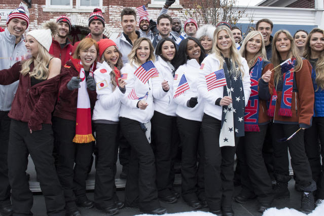 "Behold the contestants of ""The Bachelor Winter Games."" (Photo: Lorenzo Bevilaqua/ABC)"