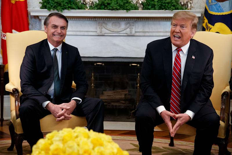 Jair Bolsonaro, Brazil's controversial new president and Donald Trump admirer, visits the White House to talk trade, Venezuela and other issues.