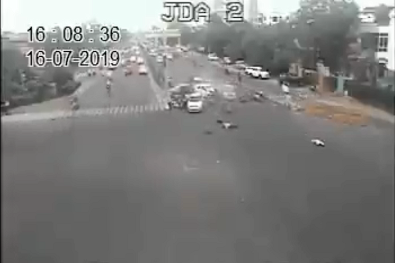 Caught on Camera: Shocking Accident Leaves Two Jaipur Brothers Dead, 3 Injured