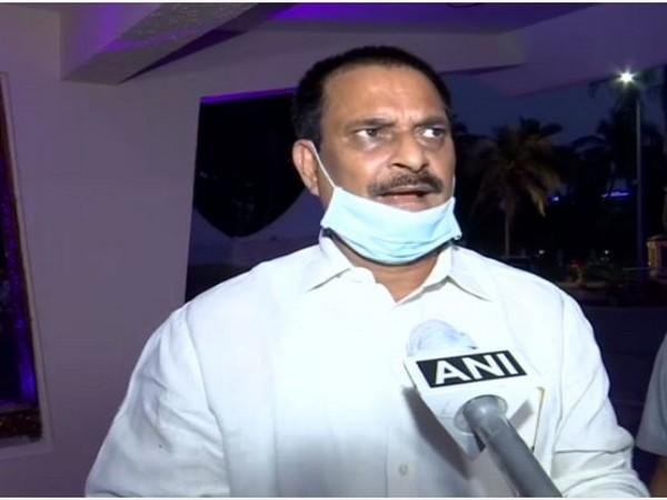 Odisha School and Mass Education Minister Samir Ranjan Dash speaks to ANI on Sunday. (Photo/ANI)
