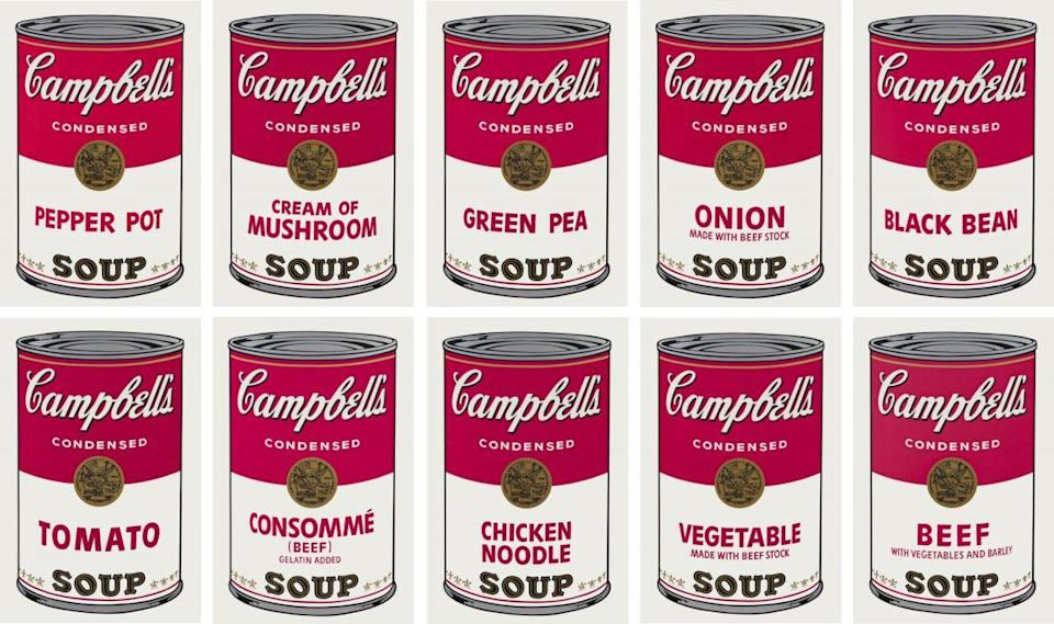 Andy Warhol 的《Campbell's Soup I》
