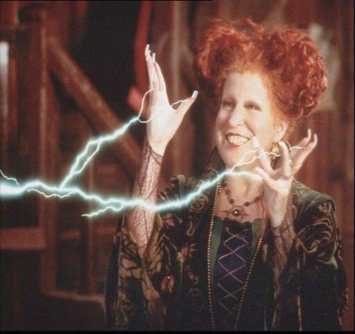 "Bette Midler in scene from movie ""Hocus Pocus"", photo"