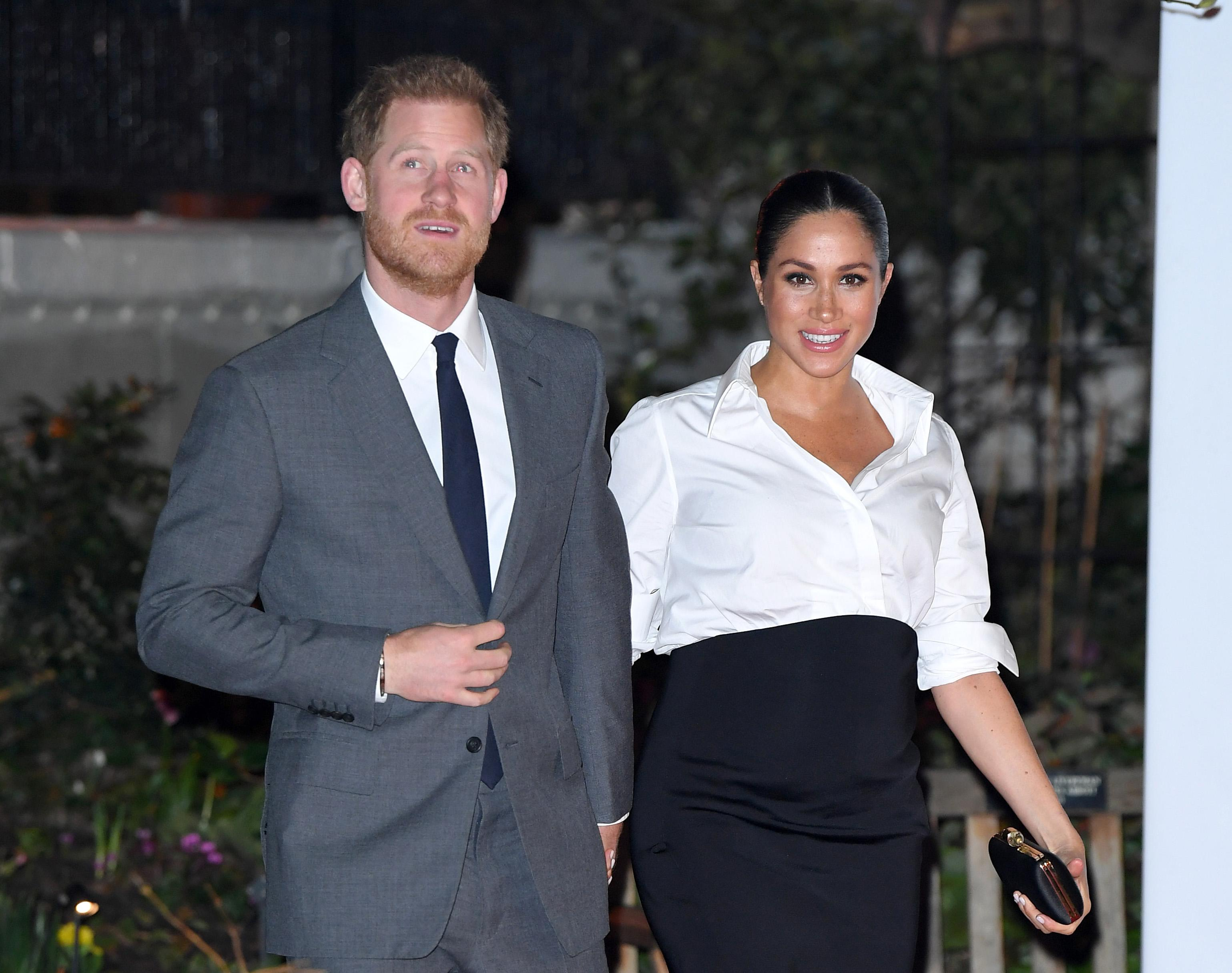 LONDON, ENGLAND - FEBRUARY 07: Prince Harry, Duke of Sussex and Meghan, Duchess of Sussex attend the Endeavour Fund awards at Drapers Hall on February 07, 2019 in London, England. (Photo by Karwai Tang/WireImage)