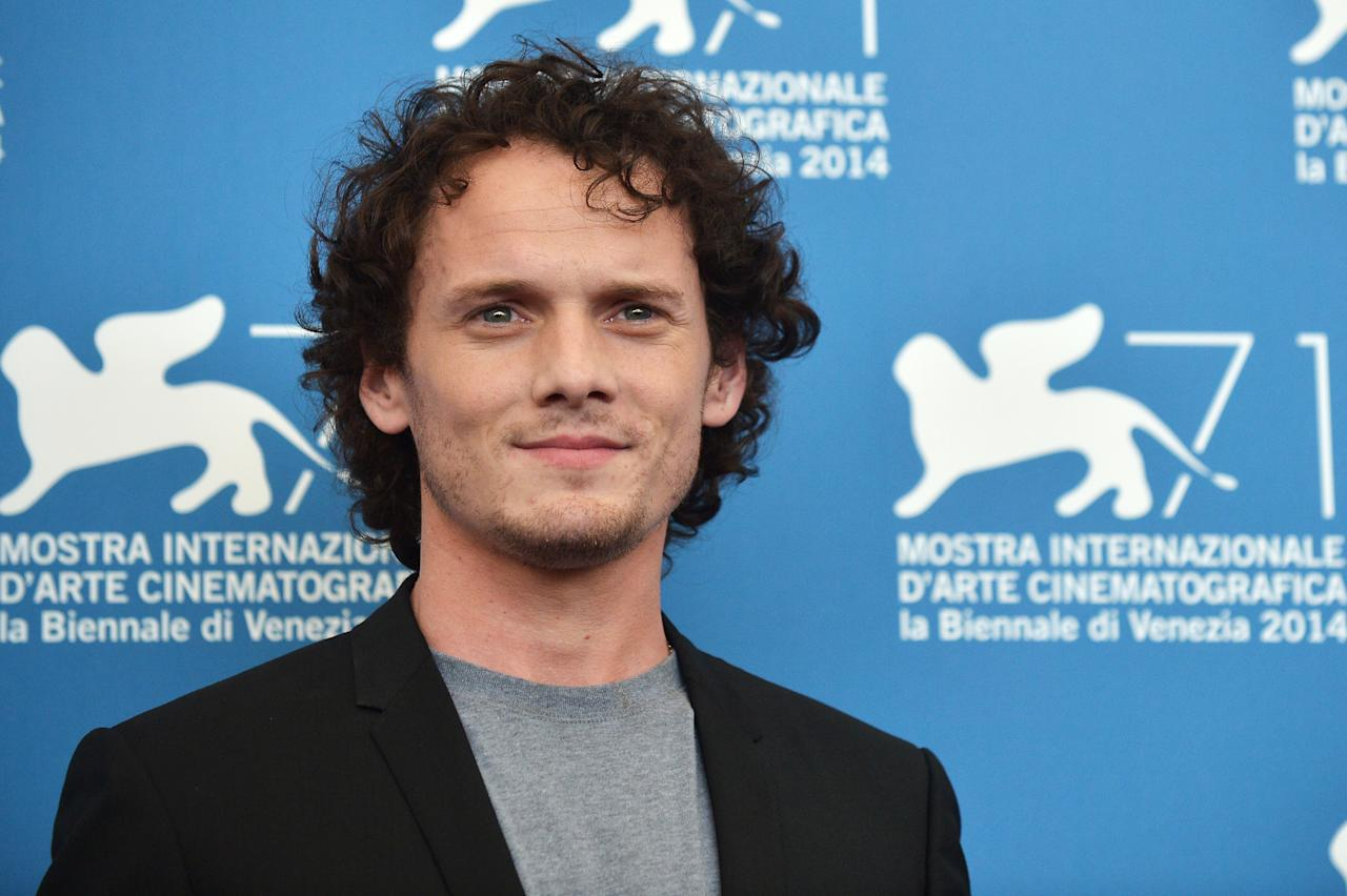 Actor Anton Yelchin at the 2014 Venice Film Festival