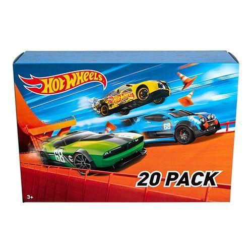 """<p><strong><em>Hot Wheels 20-Car Gift Pack</em></strong><strong><em>, $20</em></strong> <a class=""""link rapid-noclick-resp"""" href=""""https://www.amazon.com/gp/product/B01BMW645O/?tag=syn-yahoo-20&ascsubtag=%5Bartid%7C10050.g.35033504%5Bsrc%7Cyahoo-us"""" rel=""""nofollow noopener"""" target=""""_blank"""" data-ylk=""""slk:BUY NOW"""">BUY NOW</a></p><p>Hot Wheels are a brand of die-cast toy cars introduced by American toy maker Mattel in 1968. The cars are modeled after full-sized """"tricked out"""" vehicles, and they were originally intended for kids, but many have since become collector's items.</p>"""