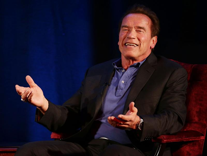 File photo dated 15/11/2014 of Arnold Schwarzenegger who has reassured fans after a video emerged showing him being drop-kicked in the back during an event in South Africa.